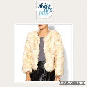 NEW Skies are blue faux fur cropped jacket 0116